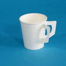 2000 Kaffeebecher Kaffeetasse Pappe Pappbecher m. Henkel weiß 180ml 0,18l