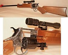 Cap Gun Store Rifle with Scope Fires 12 Shot Ring Caps Made in Italy  20004