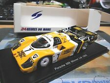 PORSCHE 956 L Le Mans 1985 New Man Joest Ludwig 7 Winner vainqueur Resin Spark 1:43