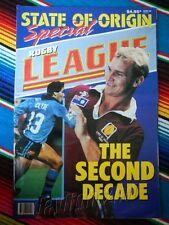 ✺RUGBY LEAGUE WEEK✺ 1990 State of Origin BRISBANE BRONCOS Allan Langer NRL Big