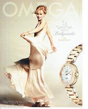 PUBLICITE ADVERTISING 096  2012  Omega  montre Ladymatic avec Nicole Kidman