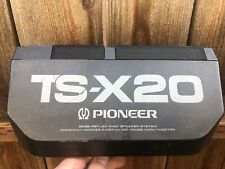 New listing Vintage 1980's Pioneer Ts-X20 Tested/Working Bass Reflex 3 Way Speakers-Japan