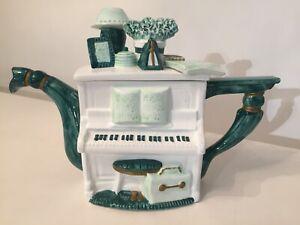 Leonardo Green And White Piano Teapot Collectors Decorative Teapot