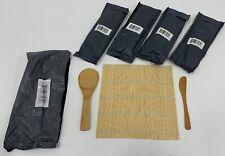 Set of 5 Melange Sushi Rolling Kits includes mat, rice paddle, spreader