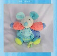 Doudou Kaloo Souris Peluche Boule Orange Bleu Vert Avec Poche Eléphant