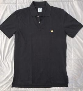Men's BROOKS BROTHERS Medium Performance Polo Golf Black Short Sleeve EUC