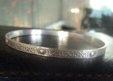 Attractive Sterling Silver Scottish Celtic Iona Style Bangle / Bracelet 1970s