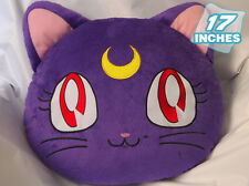 "Large Japanese Anime SAILORMOON Luna Cat  Plush TOY Cosplay Pillow 17""Wide"