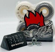 New Spitfire Classics Skateboard Wheels 54mm+Flip HKD ABEC-7 Bearings+Axle Nuts