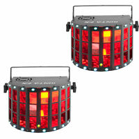 Chauvet DJ Kinta Effect Derby Beam RGBW LED Light w/ Laser & SMD Strobe (2 Pack)