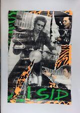 Rare 1980s Sid Vicious Poster Vintage Punk Rock Art Sex Pistols Motorycle