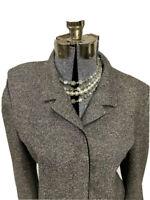 Orvis Womens Tweed Blazer Jacket Size 18 Made In USA Wool Silk Blend