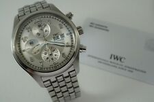 IWC 3717 PILOTS WATCH SPITFIRE CHRONOGRAPH STEEL w/ BOOKLETS & CARD C. 2010