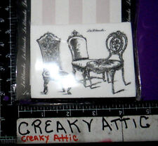 VINTAGE ORNATE CHAIRS ORNATE GROUP FOAM RUBBER STAMPS LABLANCHE #1399 NIP