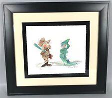 Chuck Jones Watercolor Lithograph - Bugs Bunny Elmer Fudd Looney Tunes LE 59/75