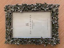Pottery Barn Mariposa Photo Frame Green/Silver 4x6