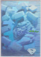 1996 DC COMICS SUPERMAN HOLO SERIES HOLOGRAM PROMO CARD #NNO PROMOTIONAL SAMPLE