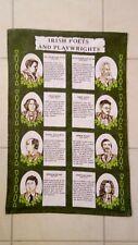 "Torchon, Kitchen towel  ""Irish Poets & Playwrights"""