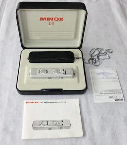 Minox LX Spionage-Kamera mit, Originaler Box  Ledertasche+Kette und Anleitung