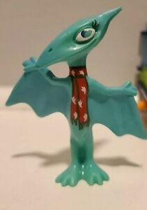 Dinosaur Train Arctic figure blue - scarf winter shiny FIGURE ONLY