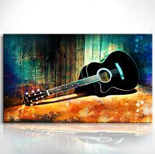 Musikinstrument Gitarre  Bild auf Leinwand Bilder Wandbild Kunstdruck D0106