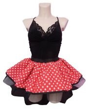 MINNIE MOUSE TUTU RED WHITE POLKA DOT SKIRT 80S FANCY DRESS HEN PARTY COSTUME