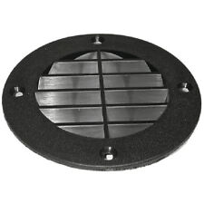 Marine/Boat Seat & Compartment Louvered Vent Cover Black