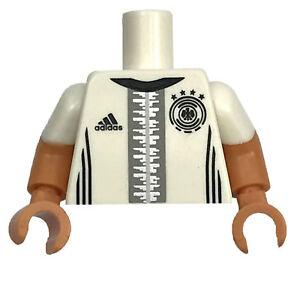 LEGO NEW SOCCER PLAYER MINIFIGURE TORSO WHITE KHEDIRA 6 PATTERN Adidas Logo PART