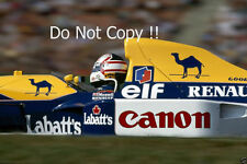 Nigel Mansell Williams FW14B ganador alemán Grand Prix 1992 fotografía 2