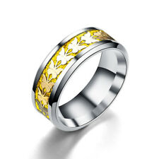 Women Men Stainless Steel Jewelry Band Vintage Butterfly Totem Ring Size6-13 1PC