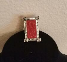 """Heidi Daus """"Exotique Chinoiserie"""" Carved Ring Size 7 Alice Through Looking Glass"""