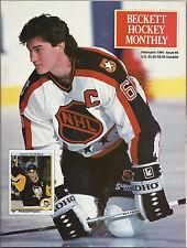 Beckett Hockey Monthly #4 (Feb. 1991) VF Mario Lemieux, Joe Sakic