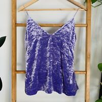H&M Womens Purple Lavender Crushed Velvet Style Cami Camisole SIze US 6