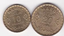 10 und 20 Francs Marokko 1951 1371 Morocco prima Erhaltung