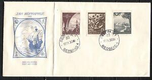 YUGOSLAVIA 1952, 10TH ANNIVERSARY OF THE NAVY, Scott 365-367 on cacheted FDC