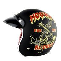 DOT Motorcycle Chopper Open Face Helmet Cruiser Retro 3/4 Helmets