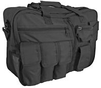 Black Tactical Cargo Bag - Canvas 35L Multifunctional Flight Backpack Holdall