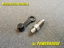 Yamaha XJR 1200 stainless clutch slave cylinder bleed screw nipple & dust cap