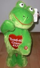 "New 15"" Plush Smiley Toad Green Wiggle Talking Doll NWT"