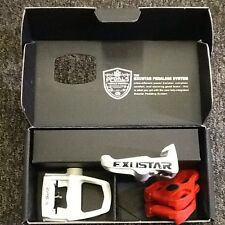 Exustar E-PR100PP Look Keo Compatible Road Bike Pedals White Inc Cleats RRP £48