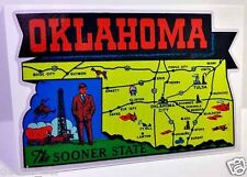 Oklahoma Vintage Style Travel Decal / Vinyl Sticker, Luggage Label