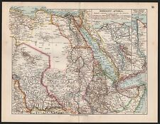 Landkarte map 1912: NORDOST-AFRIKA. SUES-KANAL. NIL-DELTA. africa Libyen Ägypten