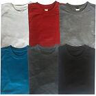 Men's Plain Blank Cotton T Shirt Round Crew Neck T-Shirts Gym Sports Casual Tops