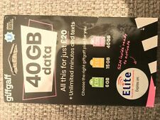 Giffgaff 40GB DATA + Unlimited minutes & text SIM card PAYG