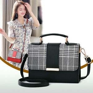 Women's PU Leather Small Crossbody Handbags Shoulder Bag Messenger Satchel Purse