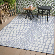Waikiki Collection Reversible Indoor/Outdoor Nautical Pebbles Pattern Area Rug