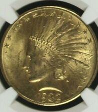 NGC MS63 1932 $10 Indian Head Gold Coin.! Choice BU.!