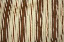 Chaps Chandler Cream Brown Stripe Bedskirt King Size Euc