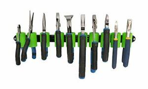 jimy Wall Mount Plier Holder Organizer | Black Aluminum + Green Clips | Tool Org