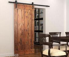 NO JOINT 2M Black Sliding Door Barn Door hardware  (B02)  New Arrival